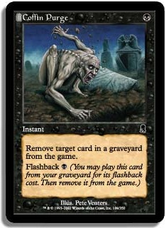 "Carte magic the gathering ""coffin purge"""